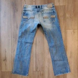 Mens Diesel ZATINY Straight leg button fly jeans